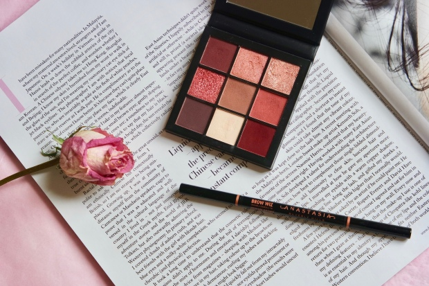 Huda beauty mauve obsessions; Anastasia Beverly Hills Brow Wiz