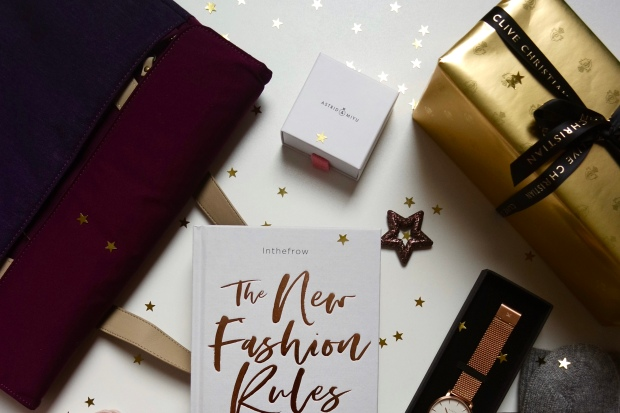 Christmas Gift Guide - Lifestyle flatlay of products on white background