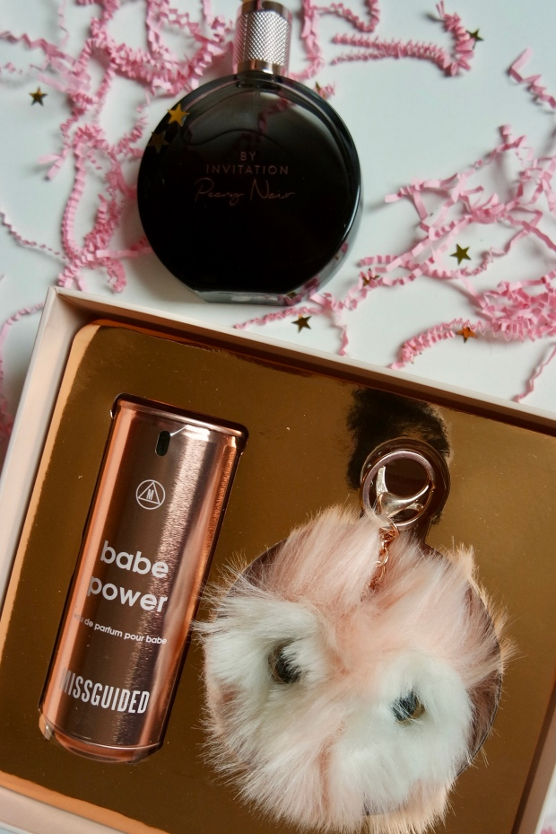 Michael Buble By Invitation Peony Noir and Missguided Babe Power gift set